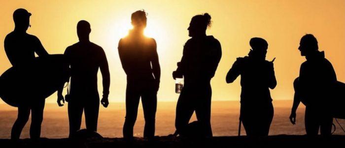 Surfers enjoy the Sunset